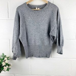 MOTH Anthropologie Gray Pullover Sweater Size XS